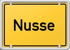 Schild Nusse